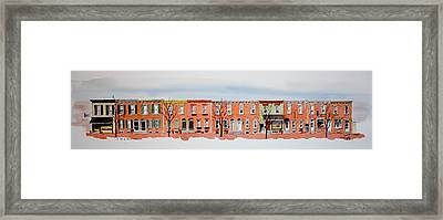 A Bit Of Scott Street  7x30 Framed Print