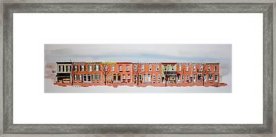A Bit Of Scott Street  7x30 Framed Print