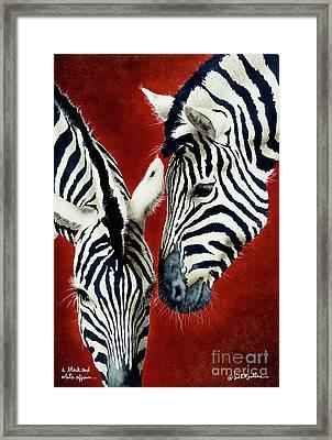A Black And White Affair... Framed Print