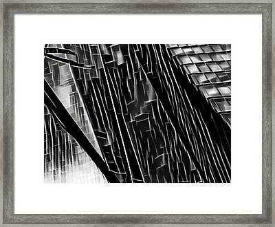 A Black-and-white Cookie Framed Print