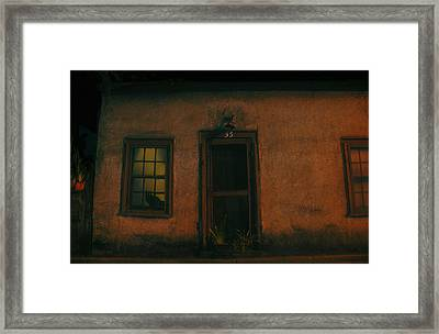 A Black Cat's Night Framed Print by David Lee Thompson