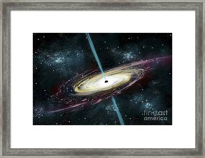 A Black Hole In Interstellar Space Framed Print