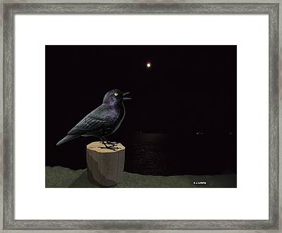 A Blackbird Singing In The Dead Of Night Framed Print