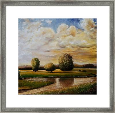 Framed Print featuring the painting A Blessing by Emery Franklin
