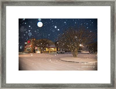 A Blizzard At Bojangles Framed Print
