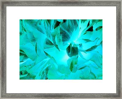 A Bloom In Turquoise Framed Print