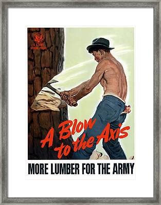 A Blow To The Axis - Ww2 Framed Print