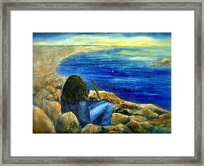 A Blue Day Framed Print by Gail Kirtz