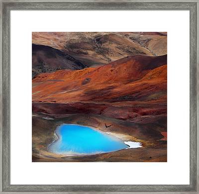 A Blue Heart Framed Print by Bj Yang