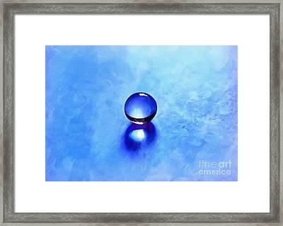 A Blue Universe Framed Print by Krissy Katsimbras