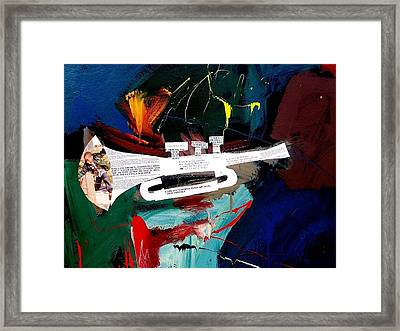 A Blues For Tupac Framed Print by Harold Smith