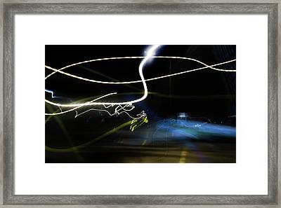 A Blur Framed Print