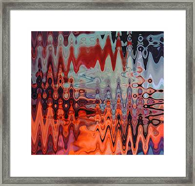A Blur Of Colors Framed Print