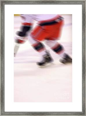 A Blur Of Ice Speed Framed Print by Karol Livote