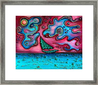 A Blustery Day Framed Print by Brenda Higginson