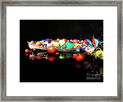 A Boatload Of Chihuli Framed Print
