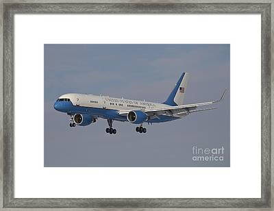 A Boeing C-32a Of The 89th Airlift Wing Framed Print