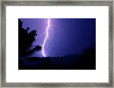 Framed Print featuring the photograph A Bolt From The Blue by Odille Esmonde-Morgan