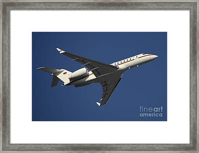 A Bombardier Global 5000 Vip Jet Framed Print by Timm Ziegenthaler