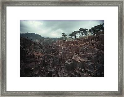 A Booming, Makeshift Gold Framed Print by James P. Blair