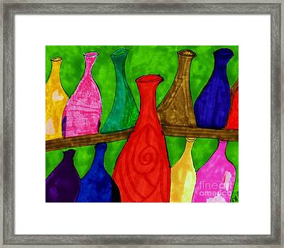 A Bottle Collection Framed Print