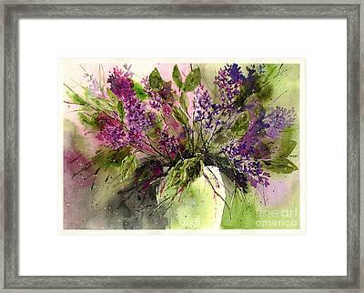 A Bouquet Of May-lilacs Framed Print