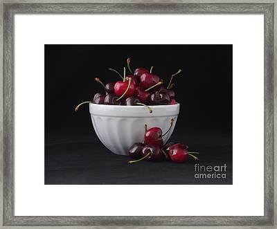 A Bowl Full Of Cherries Framed Print