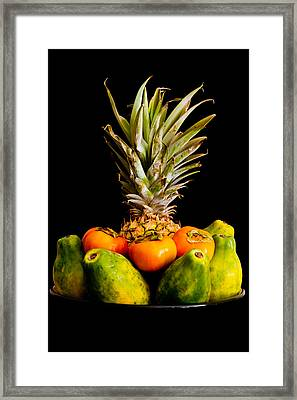 A Bowl Of Hawaiian Fruit Framed Print by Roger Mullenhour