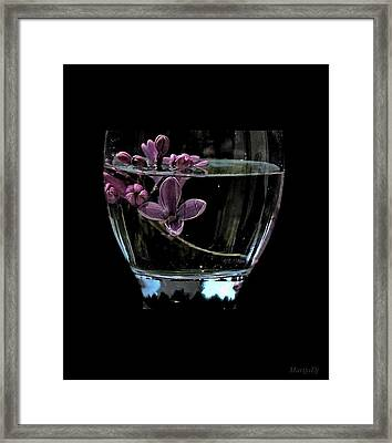 A Bowl Of Lilacs Framed Print