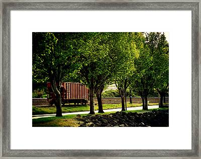 A Boxcar Story Framed Print by Kerry Langel