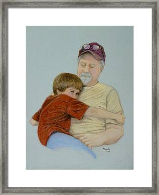 A Boy And His Dad Framed Print by Pat Neely