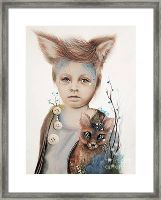 A Boy And His Fox   Framed Print