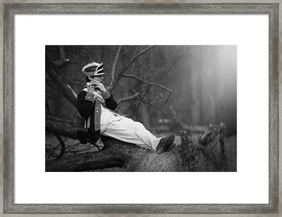 A Boy And His Tunes Framed Print by Eduard Moldoveanu