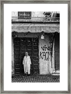 A Boy Of The Karo Tribe. Omo Valley (ethiopia). Framed Print by Joxe Inazio Kuesta Garmendia