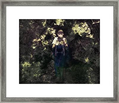 A Boys Walk Framed Print
