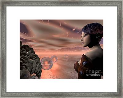 A Brave New World Framed Print by Sandra Bauser Digital Art