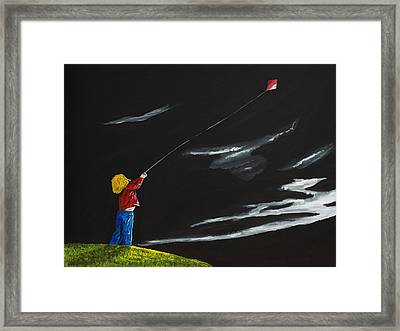 A Braw Night For Flight Framed Print