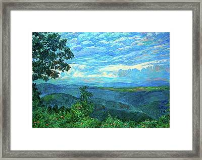 A Break In The Clouds Framed Print