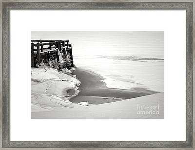A Break In The Kennebec Framed Print by Olivier Le Queinec