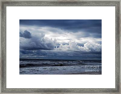 A Break In The Storm Framed Print