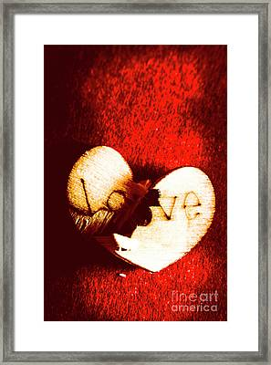 A Breakdown In Romance Framed Print