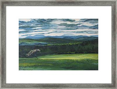 A Breaking Of The Clouds  Framed Print