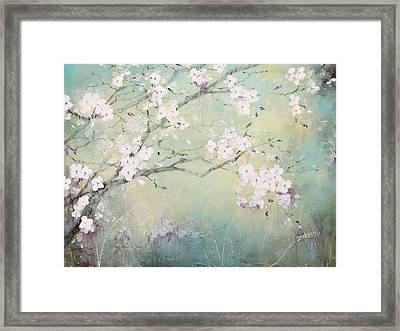 A Breath Of Spring Framed Print by Laura Lee Zanghetti