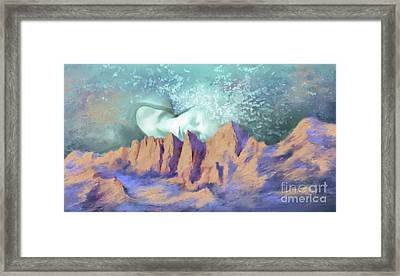 Framed Print featuring the painting A Breath Of Tranquility by S G