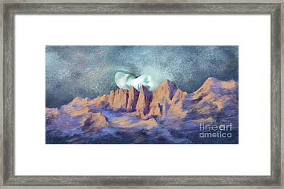 Framed Print featuring the painting A Breath Of Tranquility by Sgn