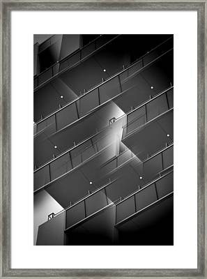 A Breath On The Ledge Framed Print