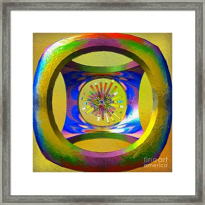 A Breezy Kaleidoscope Framed Print