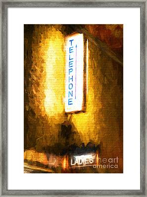 A Brick Wall Of Colors 2 Framed Print by Mel Steinhauer
