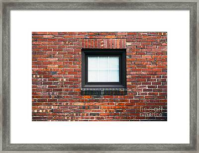 A Brick Wall. Seattle Washington Usa Framed Print