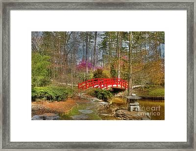 A Bridge To Spring Framed Print by Benanne Stiens